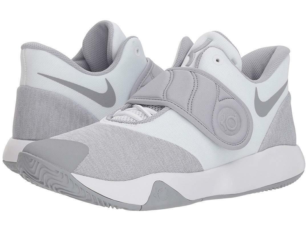 Nike KD TREY 5 VI Basketball shoes White Wolf Grey White AA7067-100