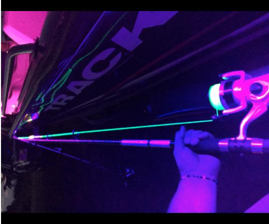 16ft Negro Tira LED de luz ultrapúrpuraa Barco Pesca Nocturna UV Ultrapúrpuraa 12v Fluorescente