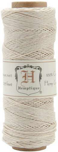 Hemp Cord Spool 10lb 205/' White 091037029287