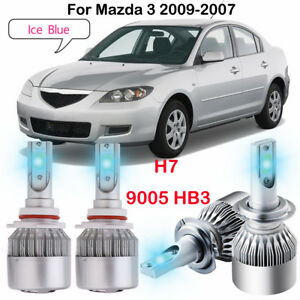 Image Is Loading Ice Blue H7 9005 Led Headlight Bulbs Kit