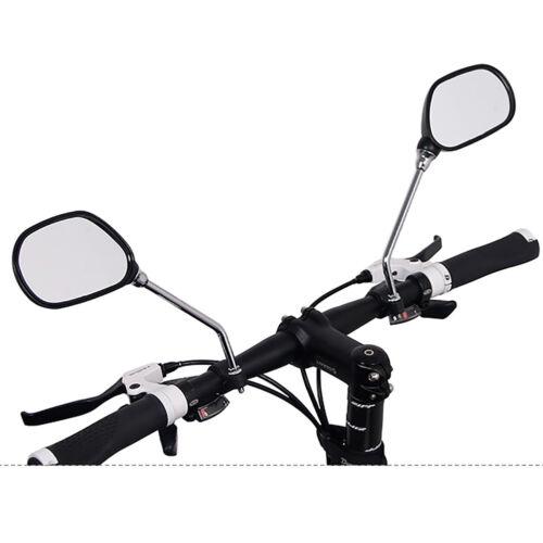 KM/_ 1 Pair Bicycle Rear View Glass Mirror Bike M6 Handlebar Wide Range Back HR