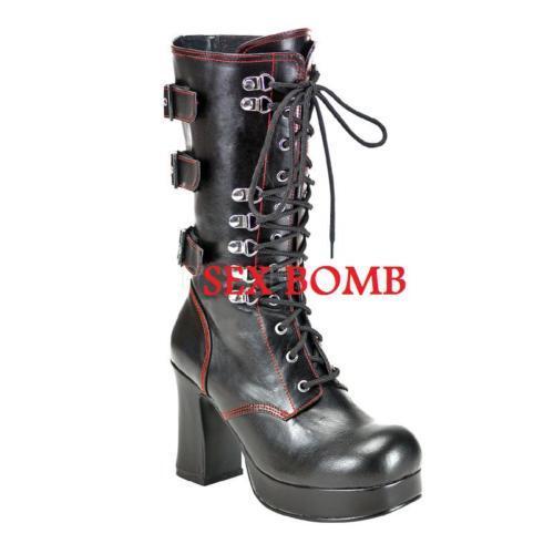 Grandes zapatos con descuento HOT SEXY DARK DONNA STIVALETTI GOTHIC PLATEAU TACCO 9,5 dal numero 36 al 43