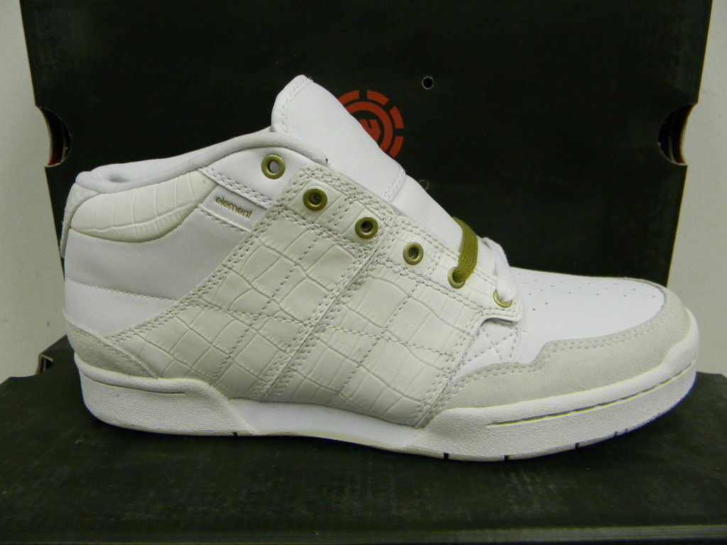 NIB Element Men's Darrell  shoes Sneakers White size 8