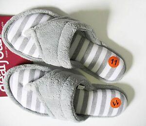 Dearfoams-Womens-Sleet-Thong-Slippers-SM40408-Sz-L-9-10-New