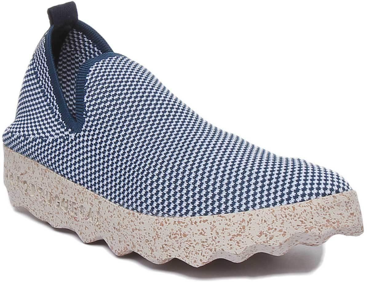 Asportuguas Clare Eco  donna Cotton scarpe blu bianca Cork Sole Dimensione UK 3 - 8  edizione limitata