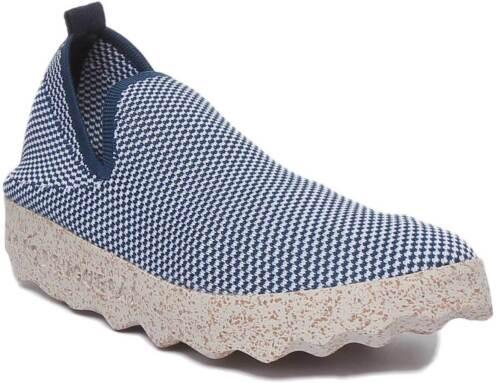 Asportuguesas Clare Eco Women Cork Sole Cotton Shoes In Blue White Size UK 3-8