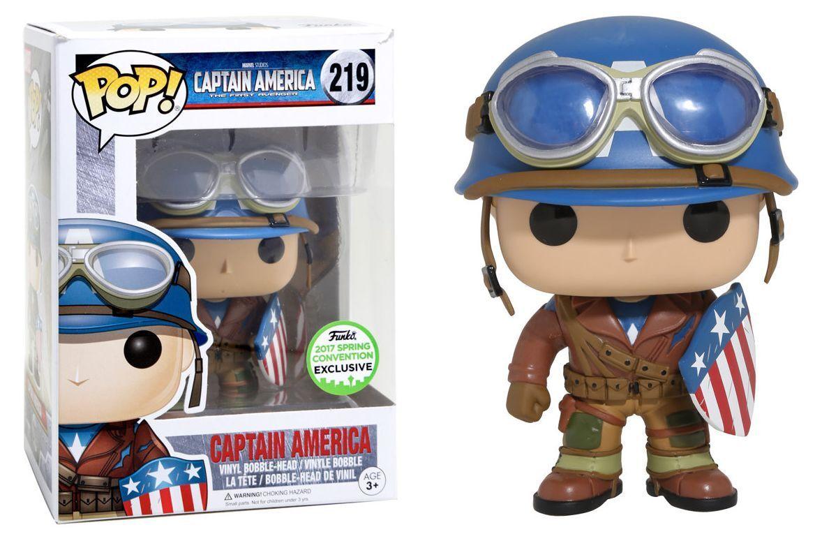 Funko Pop Vinyl Captain America 2017 Spring Convention (Funko Perspex Box) New