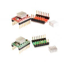 4 pcs A4988 3D Printer Reprap Stepper Motor Driver Green with Heatsink  Arduino