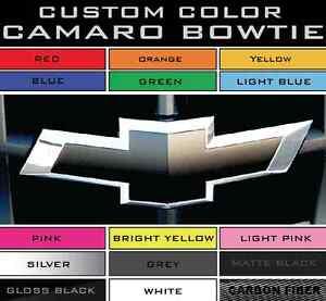 2010-2013 Camaro Bowtie Emblem Overlay PRE-CUT Vinyl Color Decal Front/Rear | eBay