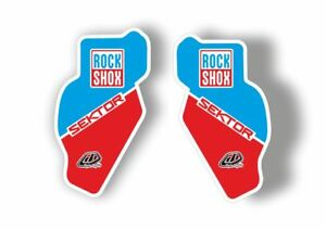 Rock Shox SEKTOR 2018 Fork Decal Mountain Bike Cycling Sticker Adhesive Red