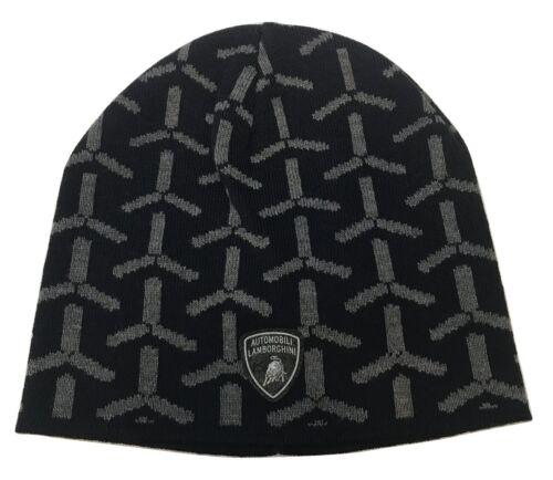 Lamborghini Y-Shaped Detailed Logo Shield Knitted Hat Beanie