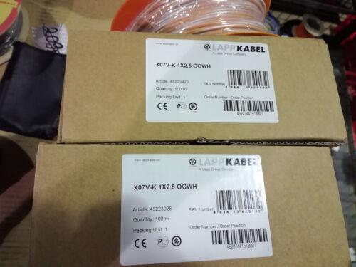 100m Lapp Kabel x07v-k 1x2,5 ogwh art.4522392s naranja con bobina