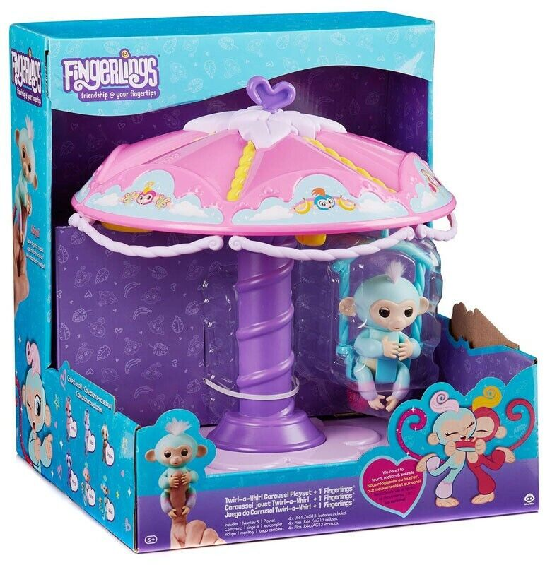 Fingerlings Twirl-a-Whirl Carousel Playset [with Abigail]