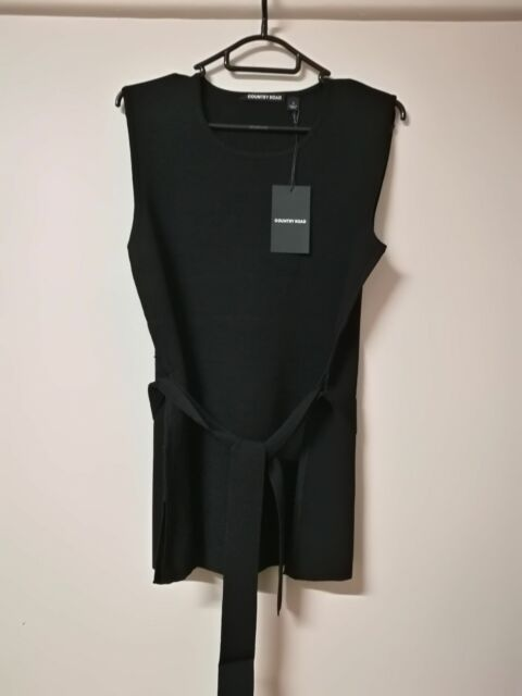BNWT womens laides COUNTRY ROAD TOP TIE BELT KNIT SLEEVELESS rrp$119.95