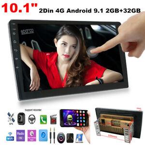 "10.1"" 2Din 4G Android 9.1 Car Stereo Radio Dash Player Navigation GPS 2GB+32GB"