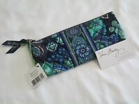 Vera Bradley Blue Rhapsody Brush Pencil Cosmetic Case 4 Purse Tote Backpack