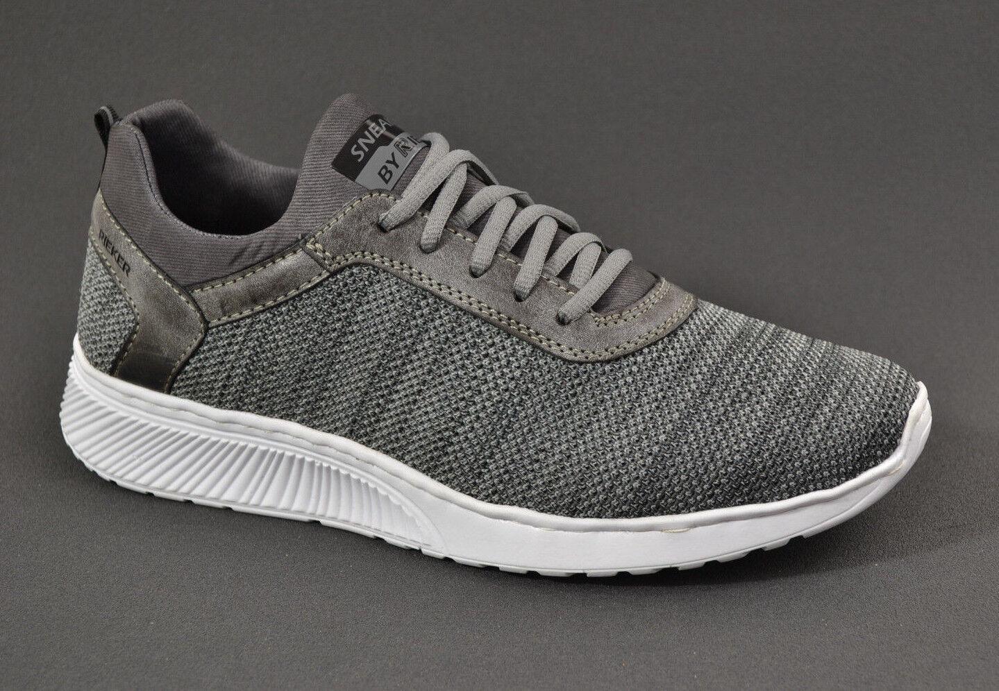 Rieker Herren Stoff Sommer Sneaker comfort Schuhe B5051 grau leicht  NEU 41 - 45