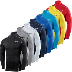 TCA-Mens-amp-Boys-Pro-Performance-Base-Layer-Compression-Top-Mock-Neck-Long-Sleeve