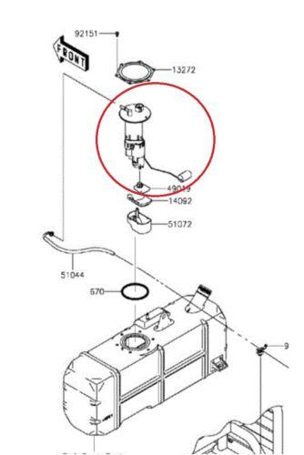 49040-0718 Fuel Pump Assembly For 2009-2020 Kawasaki Mule Teryx