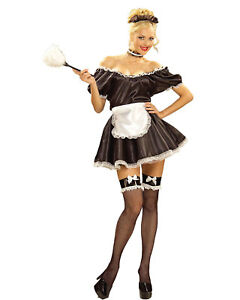 Image is loading Morris-Costumes-Women-039-s-Classic-Halloween-French-  sc 1 st  eBay & Morris Costumes Womenu0027s Classic Halloween French Maid Outfit One ...