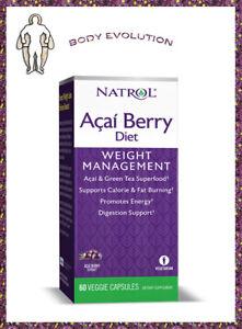 Natrol Acai Berry Fat Burner, Chrome, metabolism, Antioxidant, 60 Vegetarian Capsule
