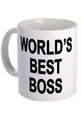Coffee Mug White Funny Christmas Gifts Boss Worlds Best Office ...