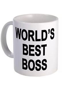 Worlds Best Boss Funny Secret Santa Christmas Gift Mug 11oz white ...