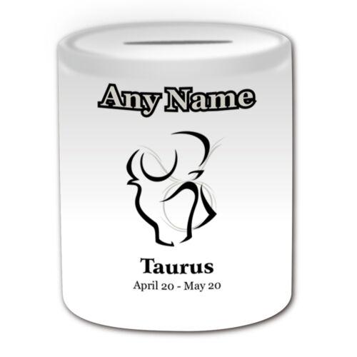 Personalised Gift Colourful Drawing Sagittarius Mug Money Box Cup Star Sign Name