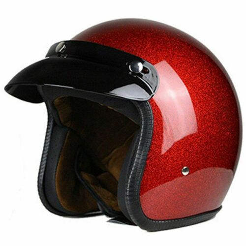 Motorcycle Retro Helmets Chopper Vintage School Casco Summer Casque Dot Approval
