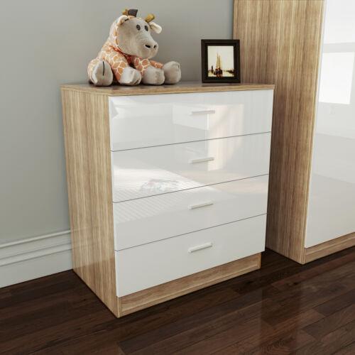 Bedroom Furniture Set 2 Door Wardrobe Bedside Table Chest of Drawer Storage