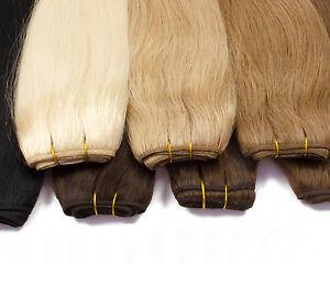Tressen-Weft-Haarverlaengerung-100g-20-45-50-60-70-80cm-Remy-Echthaar-Volumen