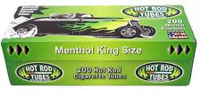 2x Boxes ( Hot Rod Green Menthol King Size ) Cigarette Tube RYO 200 Per Box