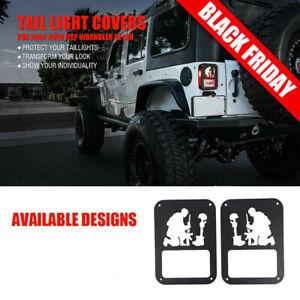 JeCar Tail Light Guard Metal Rear Light Protector Cover for 2007-2018 Jeep Wrangler JK /& Unlimited Sports Rubincon Sahara Black
