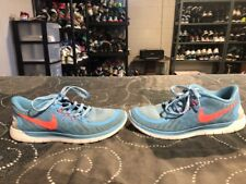 item 7 Nike Free 5.0 GS Girls Boys Youth Athletic Shoes Size 4Y Blue Peach  White -Nike Free 5.0 GS Girls Boys Youth Athletic Shoes Size 4Y Blue Peach  White