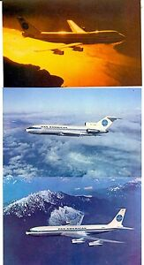 Vintage-amp-Rare-Pan-Am-Picture-Postcards-Sealed-24-Pack-3-Different-Aircraft-New