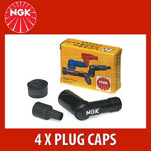 8031 4x NGK Resistor Spark Plug Cap LB05E black