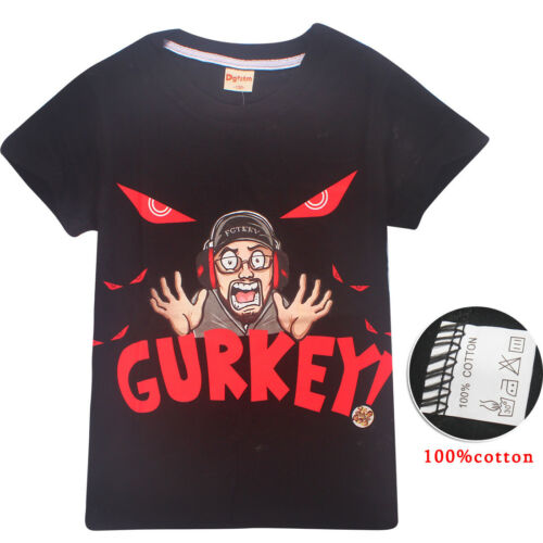 UK Kids GURKEY FUNnel Vision FGTeeV Family Gaming Team T-shirts Party Tops HOT