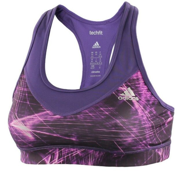 8c8ac91e14 New Adidas Sports Bra Top Ladies Womens Gym Training Fitness Running -  Purple