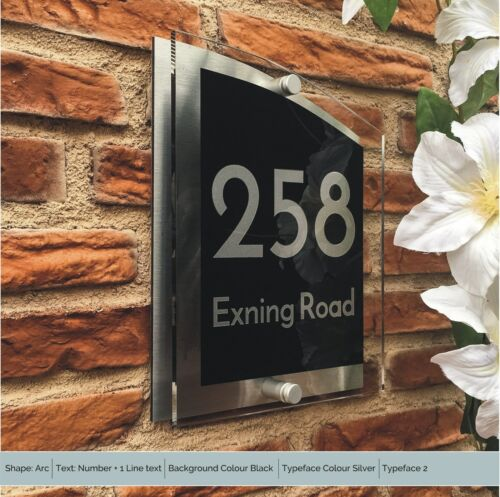 House Address Signs Personalised for your Door /& Home Acrylic Numbers