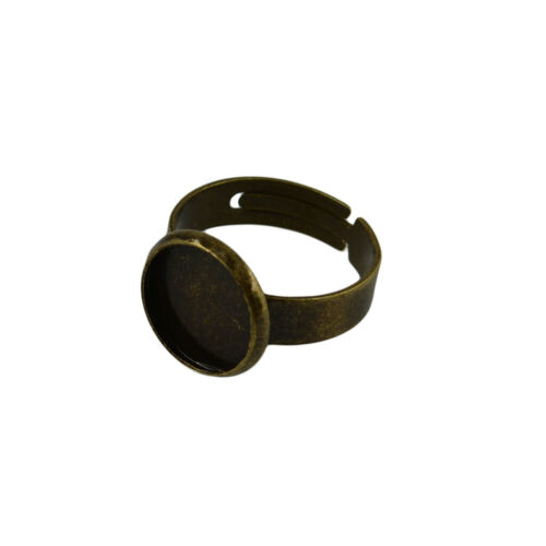 10pcs Cabochon Ring Einstellungen Einstellbare Ring Bases Blank