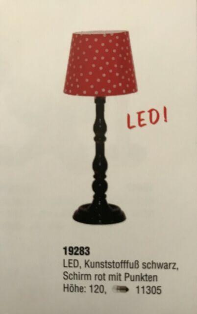 Kahlert 19283 Stehlampe rot mit weißen Punkten 3,5V 1:12 für Puppenhaus NEU #