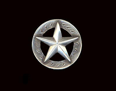 """Western Equestrian Tack Raised Gold Star 5//8/"""" Hat Band Concho/'s Set of 6"""