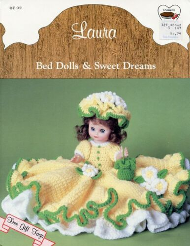 """Laura Outfit for 13/"""" Bed Doll Outfit Dumplin Designs Crochet Pattern Leaflet"""