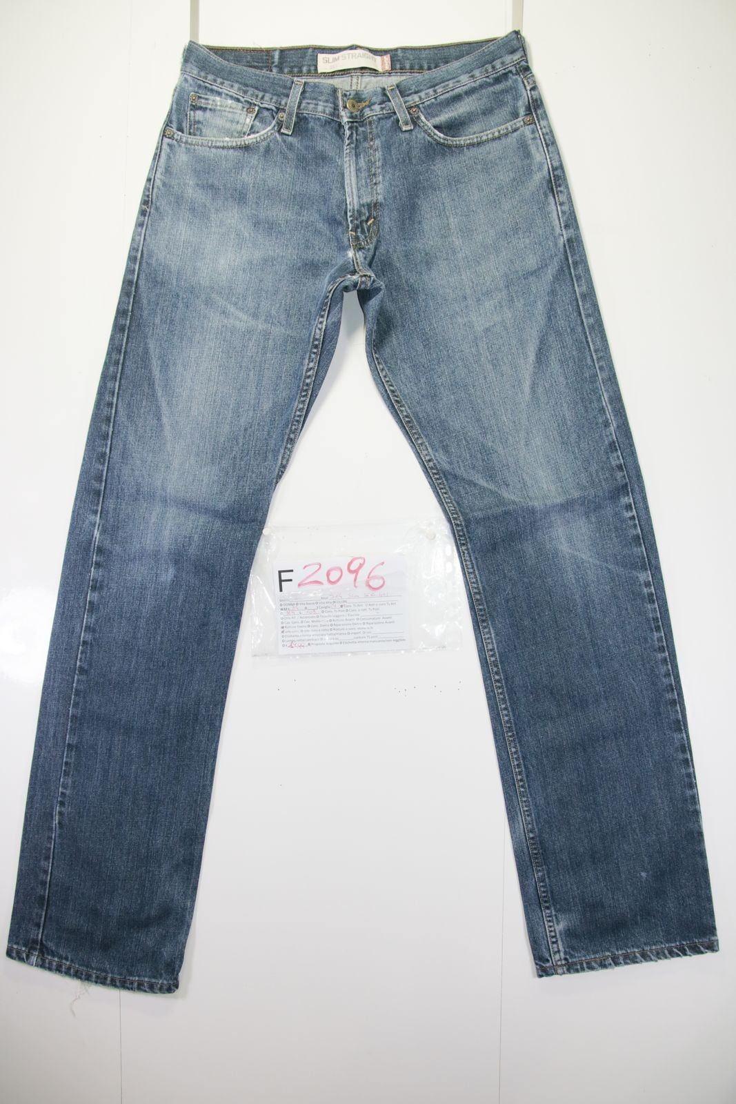 Levis 514 Slim Straight (Cod. F2096) Tg46 W32 L34 jeans Vintage usato Vita Alta Vintage jeans 12a679