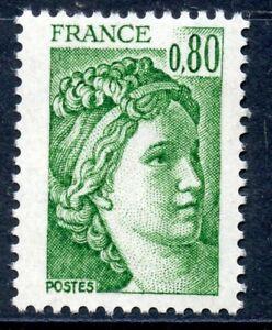 Stamp // Timbre De France Neuf N° 1970c ** Type Sabine / Variete Sans Phosphore Gagner Une Grande Admiration