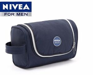 519c7b5b882c Details about NIVEA Mens Hanging Travel Toiletry Bag Shaving Case Cosmetic  Bag