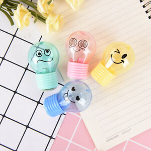 Bulb-style-emotion-plastic-pencil-sharpener-kids-gift-stationery-school-suppl-DD