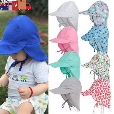 Girls Kids Baby Summer Toddler Outdoor Floral Bucket Hat Canvas Sun Cap Bump