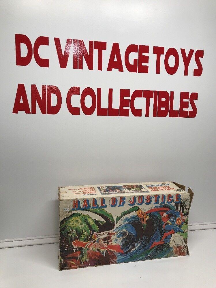 Vintage DC 1976 Mego HALL OF JUSTICE - PLAYSET w  Original Box