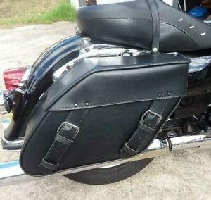 110XL Black Motorcycle Saddlebags Tek Leather Thunderbird America Dyna Softail